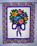 Cross-Stitch Bouquet - Wall-hanging