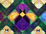 2013 - Grandma's Pansies - Detail