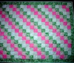 For charity - Diagonal stripe baby quilt