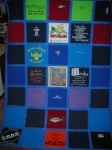 Twin size T-shirt quilt with sashing