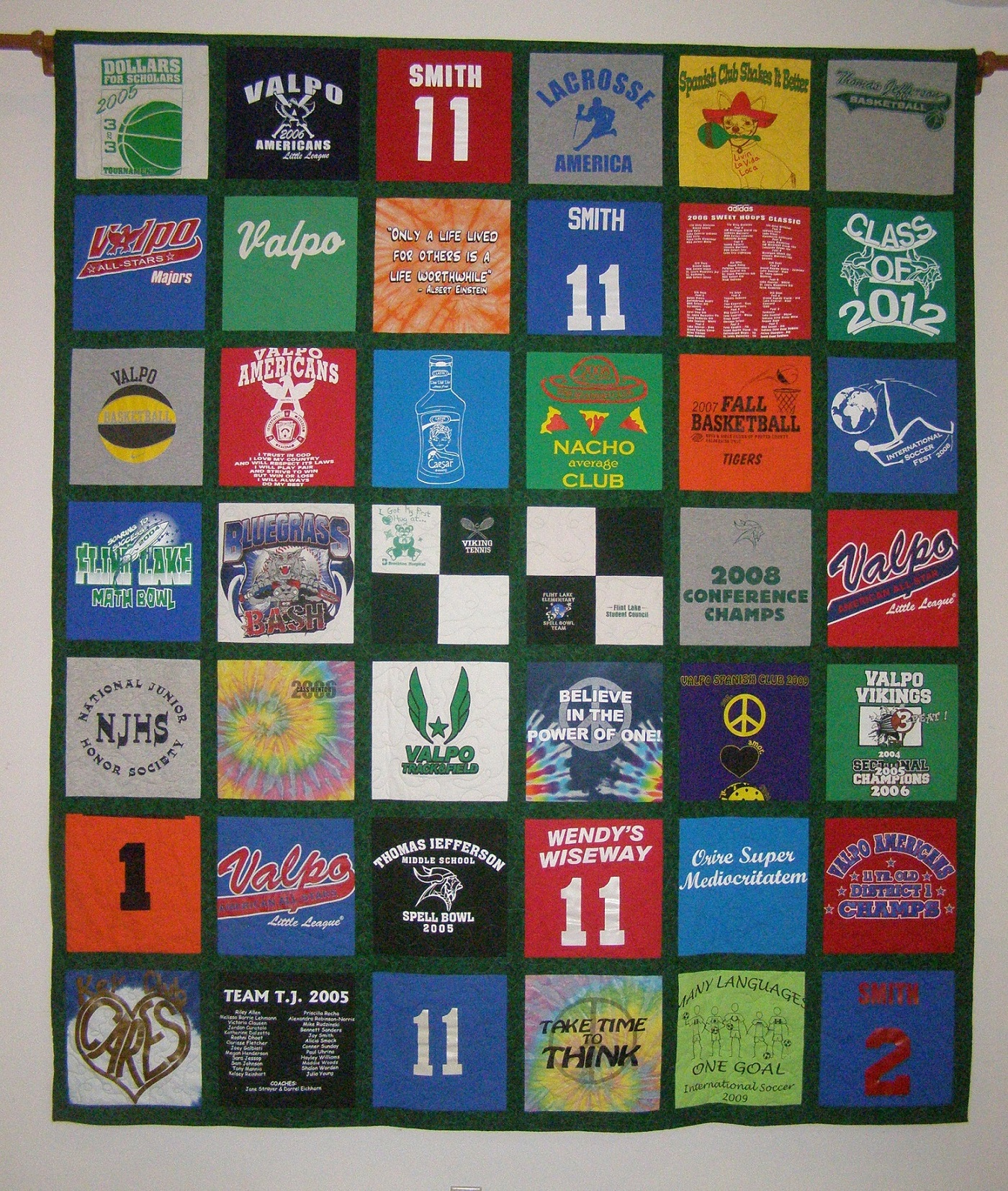 T-Shirt Quilts | Custom Quilting and Sewing by Laurel Hahn : pictures of tshirt quilts - Adamdwight.com