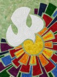 """Live in God's Grace"" - Wall-hanging - Detail"