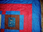 Quilt for a log cabin