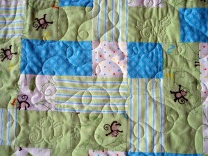 Custom/Meander Combo - Look for the monkeys in the quilting!
